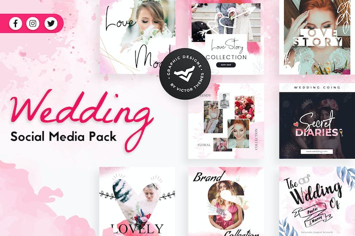 Thumbnail for Wedding Social Media Templates