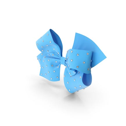Large Hair Bow with Rhinestones
