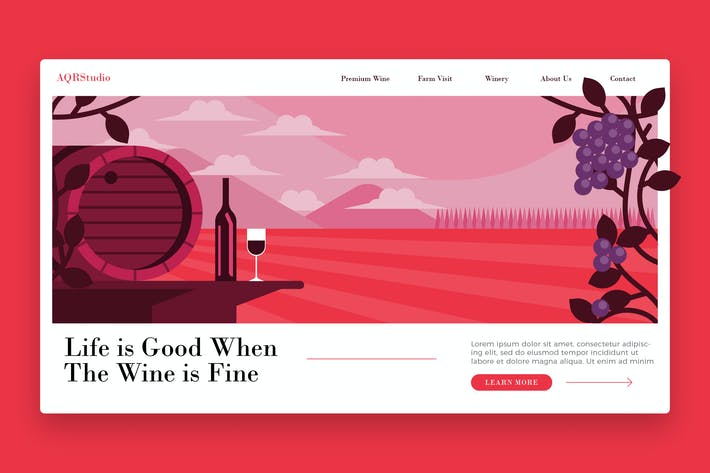 Thumbnail for Farm  Winery - Banner & Landing Page