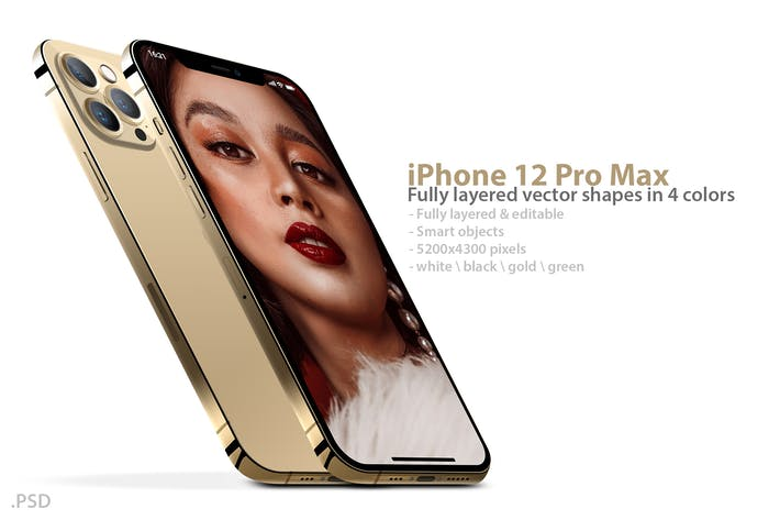 Thumbnail for iPhone 12 Pro Layered PSD Mockups