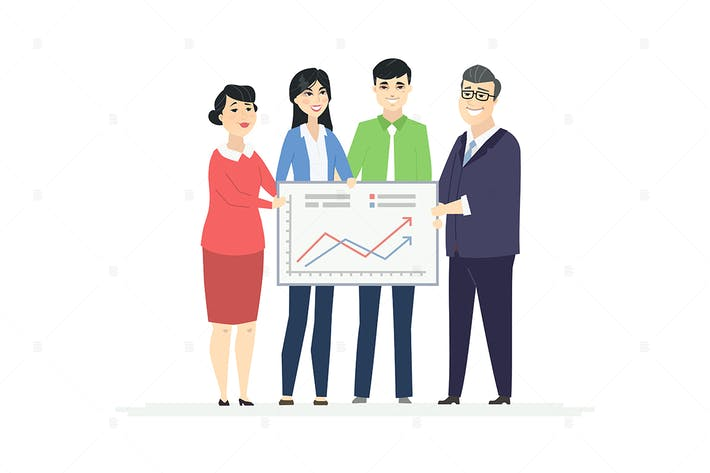 Thumbnail for Business analytics - colorful illustration