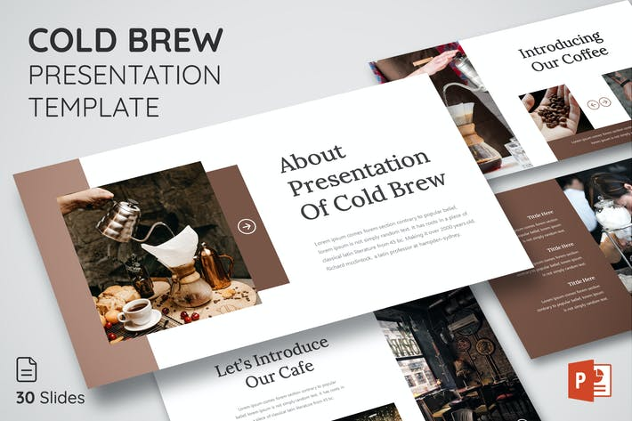 Thumbnail for Cold Brew - Presentation Template