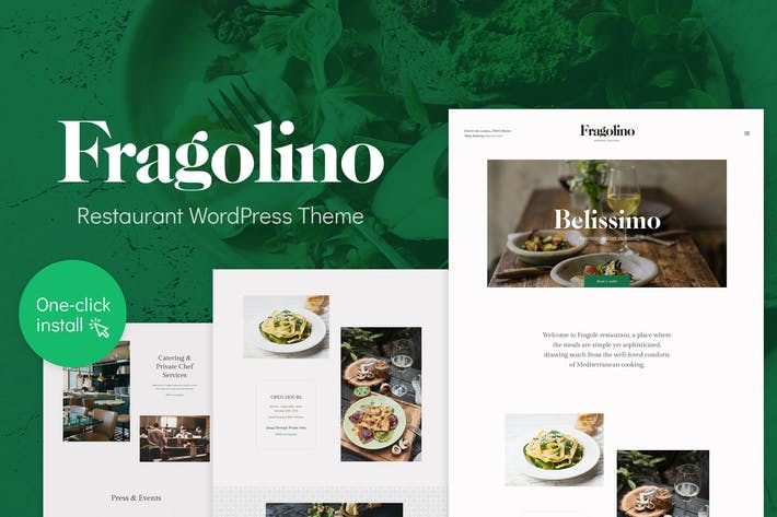 Thumbnail for Fragolino - Exquisito Restaurante WordPress Tema