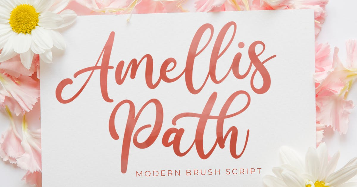 Download Amellis Path - Brush Script Font by StringLabs