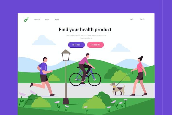 Thumbnail for Health - Website Header Illustration