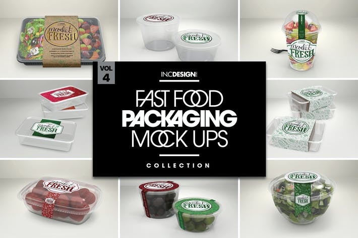 Thumbnail for Fast Food Boxes Vol.4: Take Out Packaging MockUps