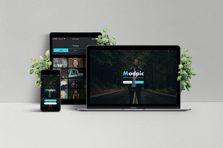 Thumbnail for Modpic Creative App page Sketch Template