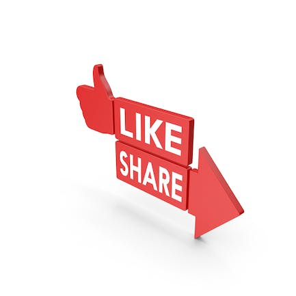 Like And Share Red Web Icon
