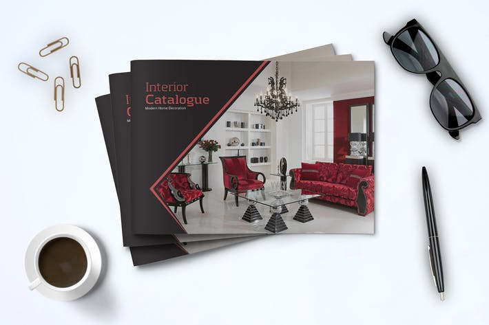 Cover Image For A5 Modern Catalogue Template