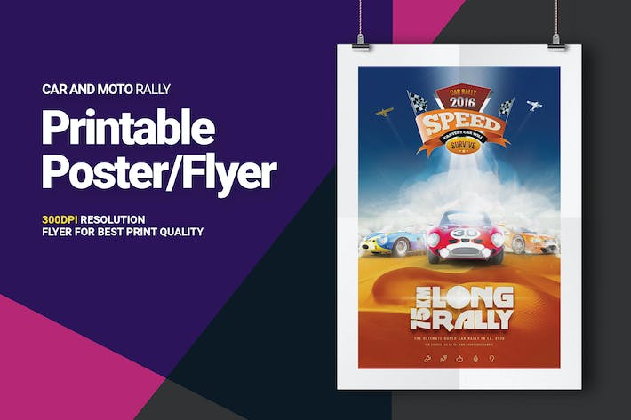 car and moto sports rally post flyer by 0effortthemes on envato elements