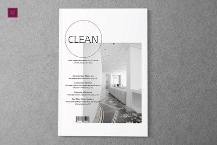 CLEAN - Indesign Magazine Template