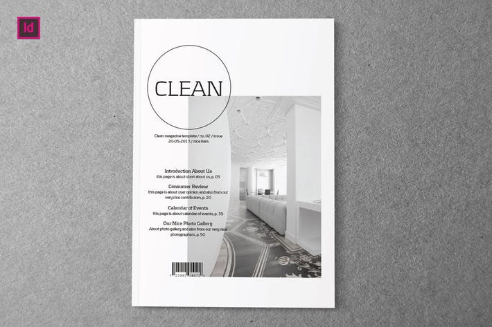 Thumbnail for CLEAN - Indesign Magazine Template