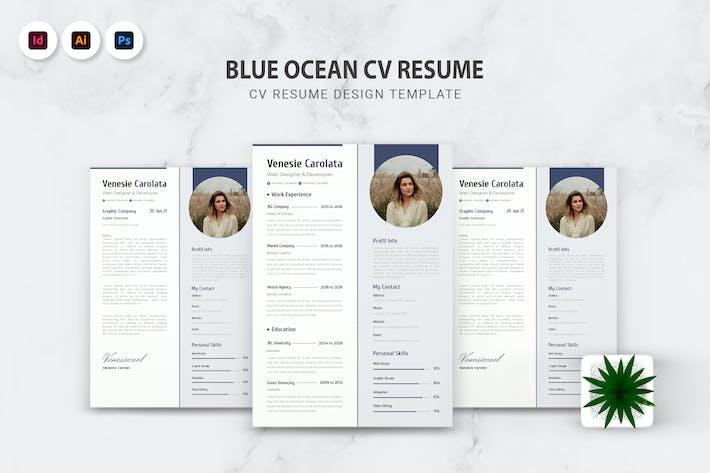 Thumbnail for Blue Ocean Cv Resume