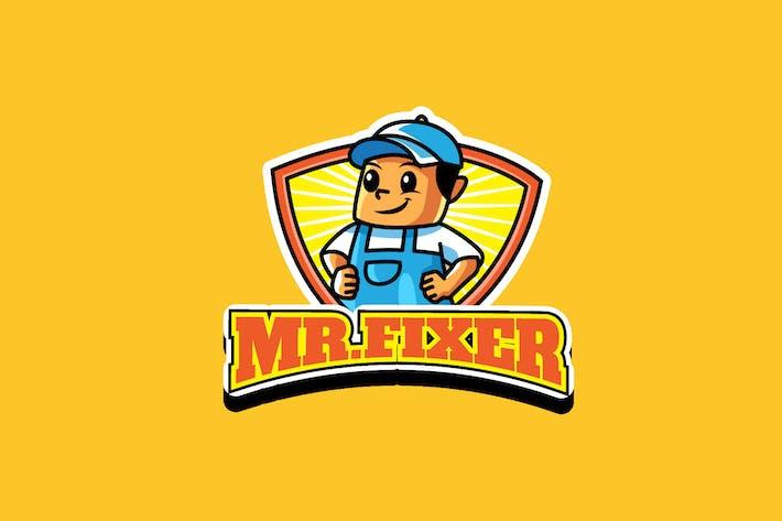 Thumbnail for mr fixer - Maskottchen Logo