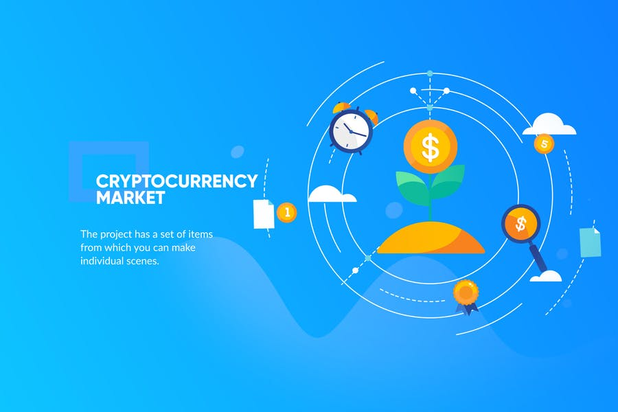 Crypto Currency Banner & Landing Page