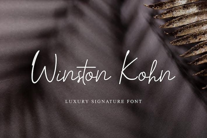 Winston Kohn Signature Handwritten Font