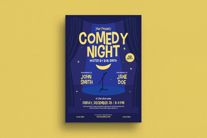 Thumbnail for Comedy Night Event Flyer