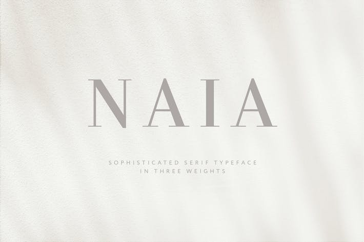 Thumbnail for Naia - Sophisticated Con serifa Tipo de letra