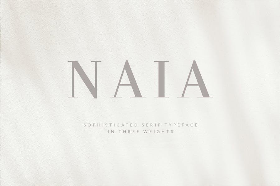 Naia - Sophisticated Serif Typeface