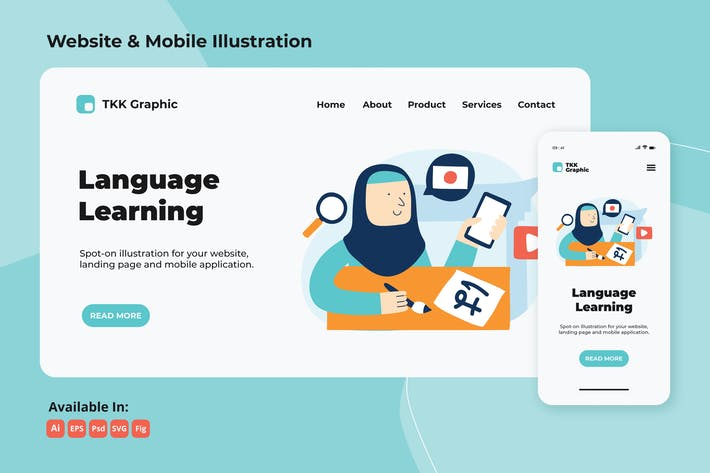 Thumbnail for Foreign language (Japan) e-learning web & mobile