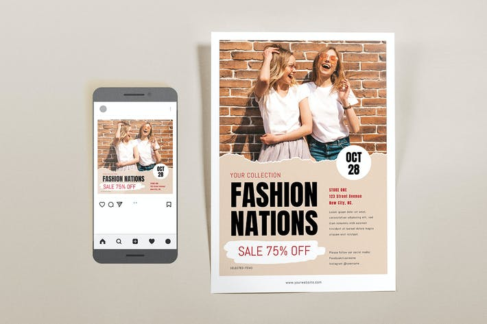 Thumbnail for Fashion Nation Template Set