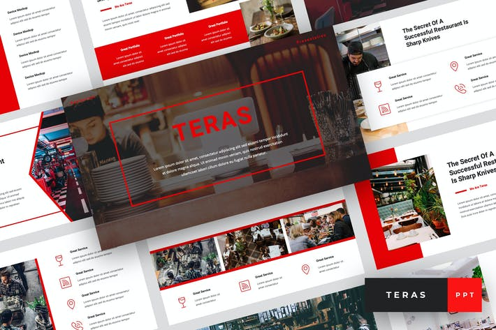 Thumbnail for Teras - Restaurant PowerPoint Template