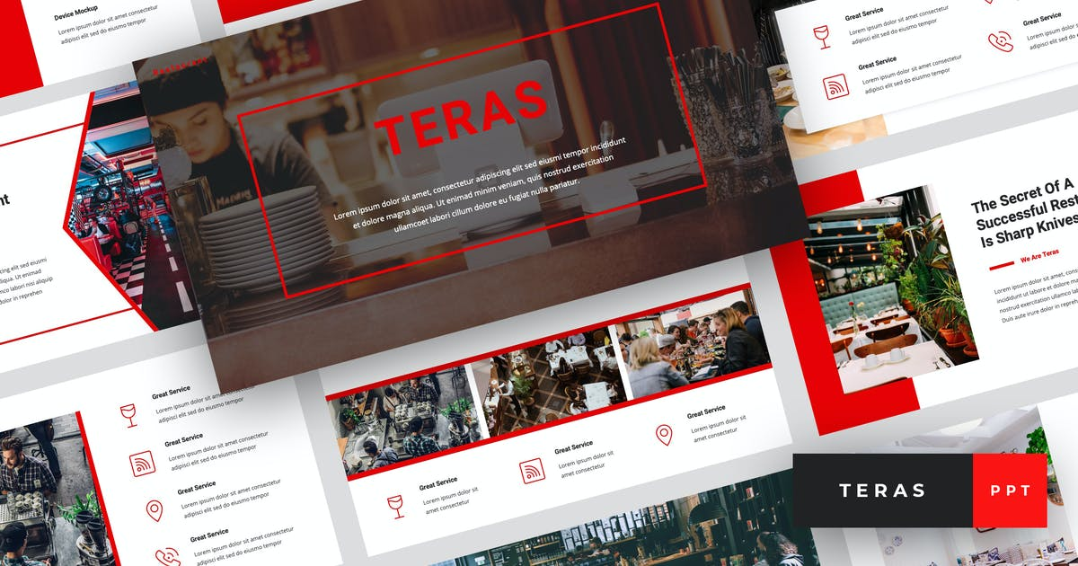 Download Teras - Restaurant PowerPoint Template by StringLabs