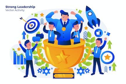 Strong Leadership - Vector Illustration
