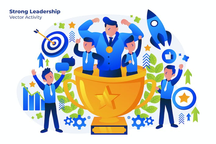 Thumbnail for Strong Leadership - Illustration Vecteur