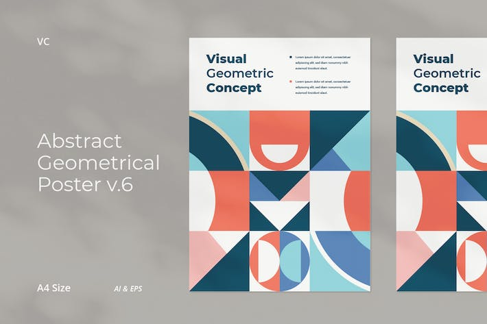 Thumbnail for Abstract Geometrical Poster v.6