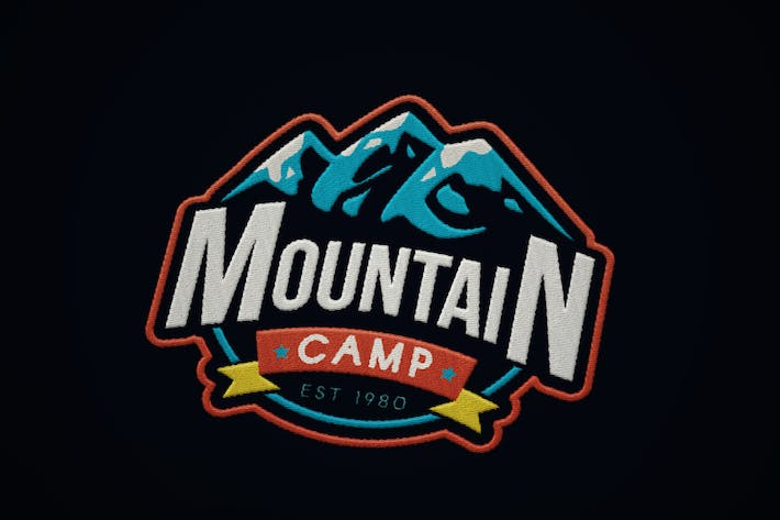 Thumbnail for Vintage Mountain Camp Badge