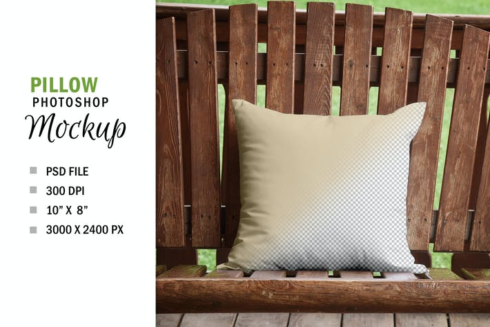 Thumbnail for Rustic Country Square Mockup Pillow