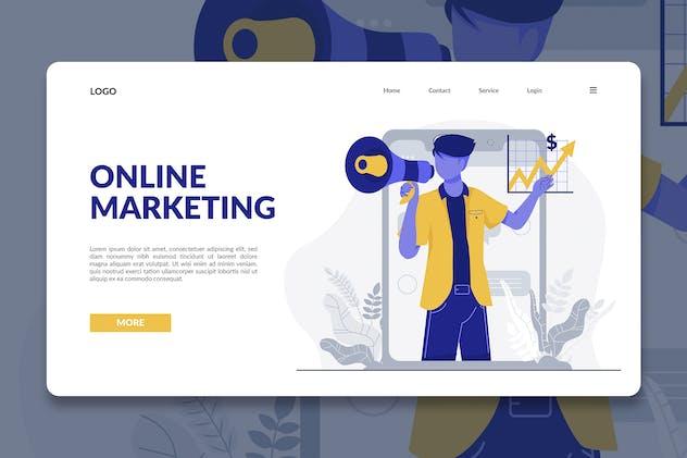 Online Marketing Modern Illustration Landing Page