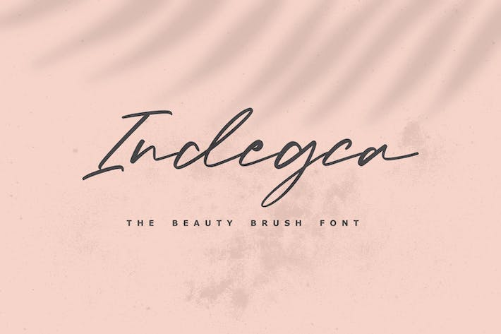 Thumbnail for Indegca - The Beauty Brush Font