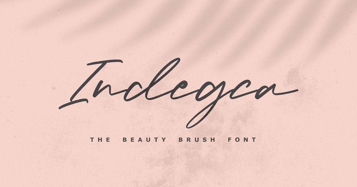 Download Indegca - The Beauty Brush Font by Graphicfresh