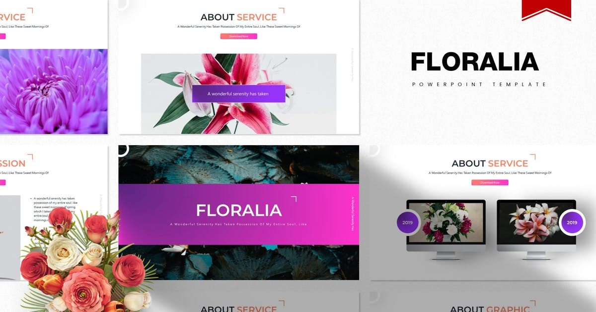 Download Floralia | Powerpoint Template by gilang_senzana
