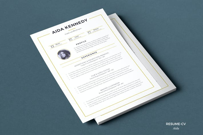 Thumbnail for Resume Aida (2 pages)