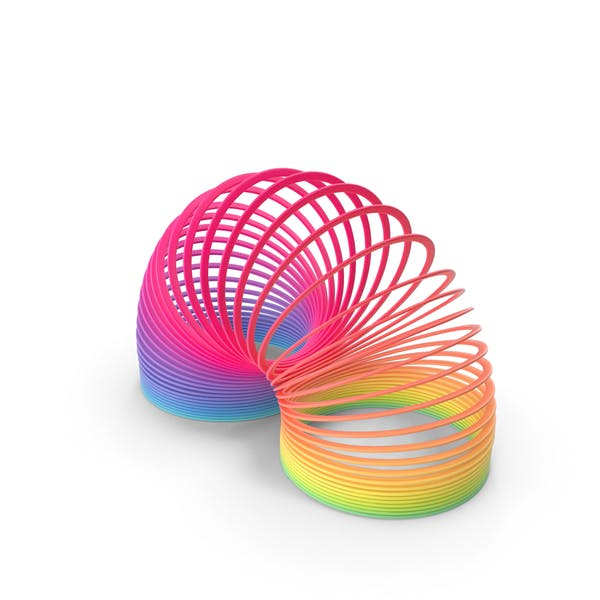 Thumbnail for Rainbow Slinky Toy Spring Curved