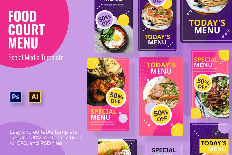 Food Court Social Media Template