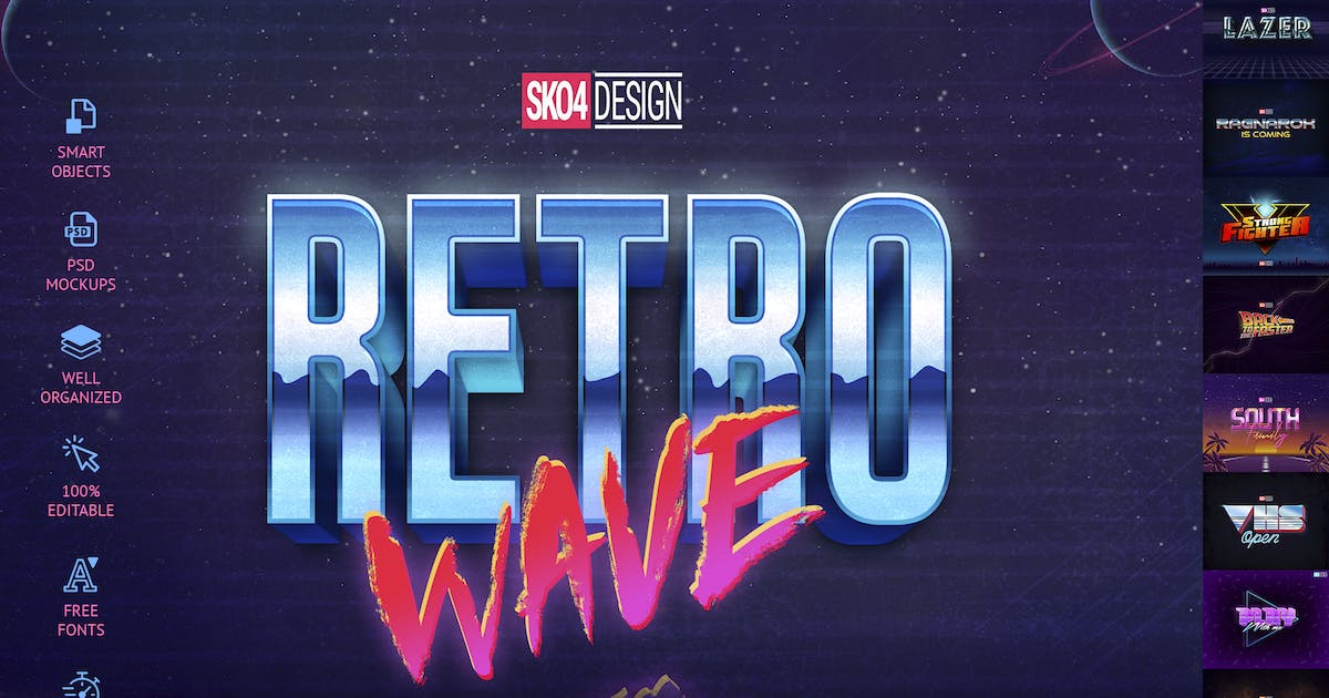 Download 80s Retro Text Effects vol.1 by Sko4
