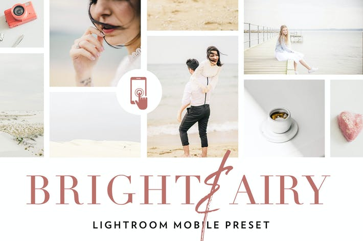 Cover Image For Bright and airy Lightroom Mobile Preset