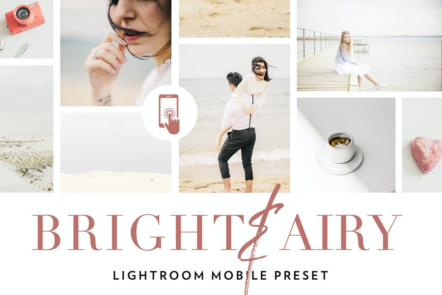Bright and airy Lightroom Mobile Preset