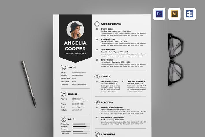 """Download 263 """"resume"""" Templates on Envato Elements"""