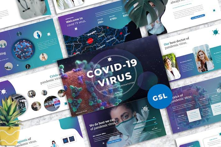 Thumbnail for Вирус Covid-19 - Медицинский Шаблон Googleslide