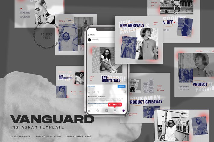 Thumbnail for Vanguard Instagram Template for Fashion Streetwear