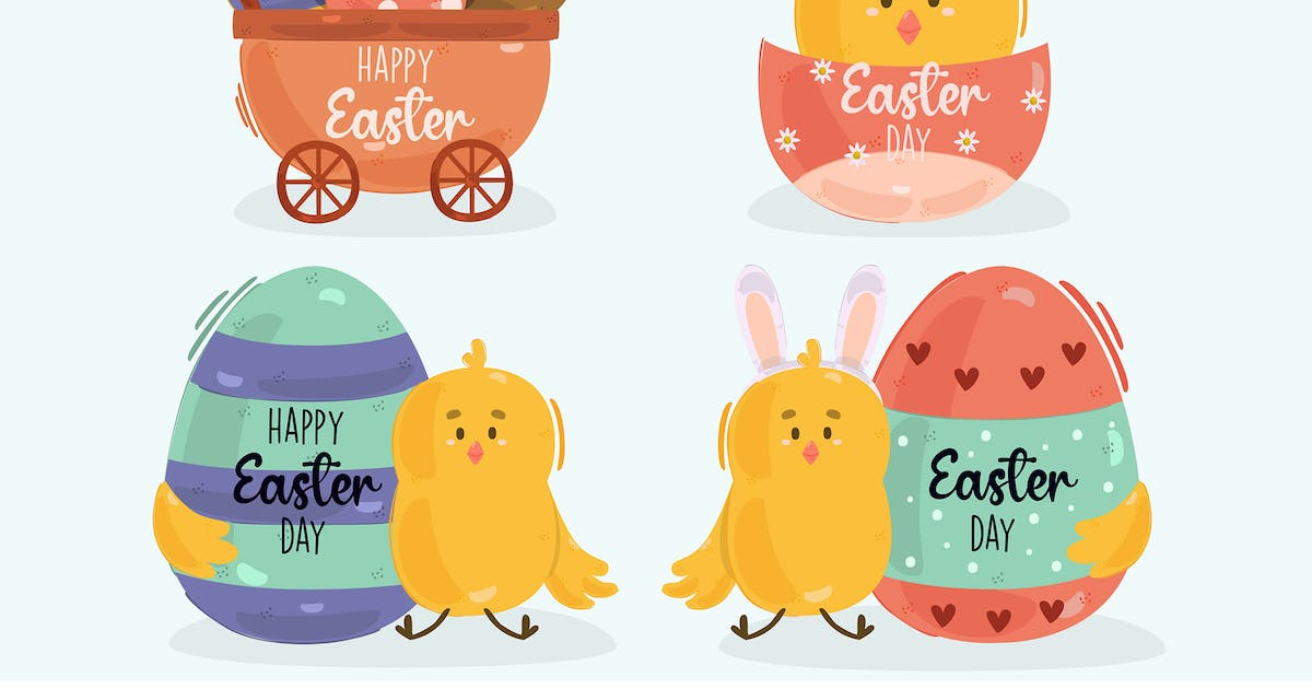 Download Easter Day Label Illustration by april_arts