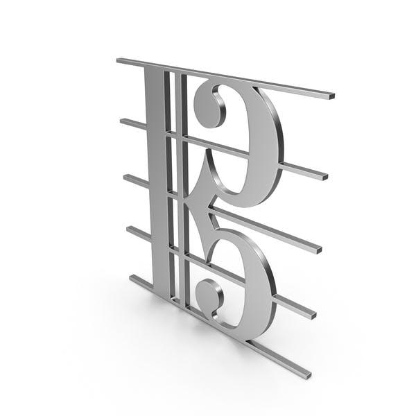 C Клиф музыкальный символ