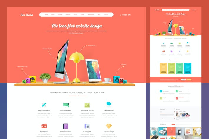 Thumbnail for Flat Business PSD Template