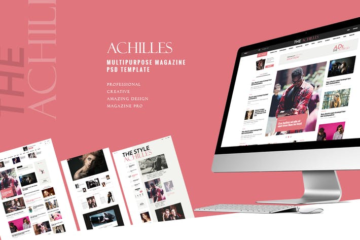 Thumbnail for ACHILLES - Multipurpose Magazine PSD Template