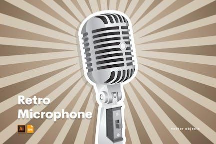 Retro Mikrofon Illustrator